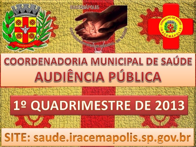 Audiência pública 1º quadrimestre 2013