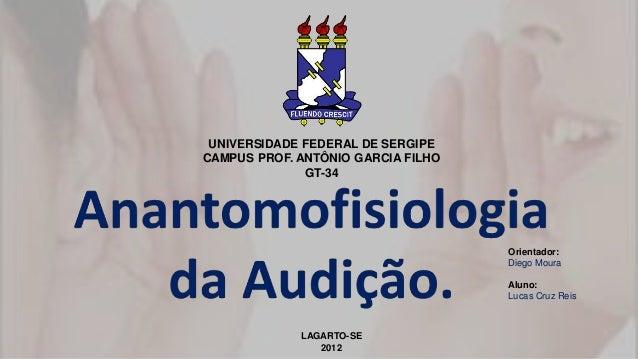 UNIVERSIDADE FEDERAL DE SERGIPE CAMPUS PROF. ANTÔNIO GARCIA FILHO GT-34 Orientador: Diego Moura Aluno: Lucas Cruz Reis LAG...