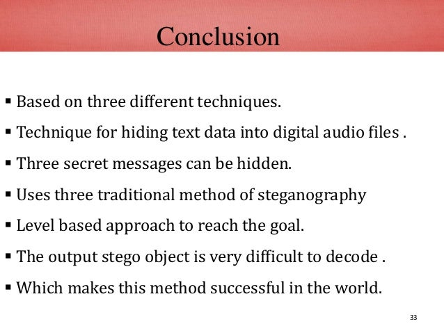 Multi-Level audio steganography