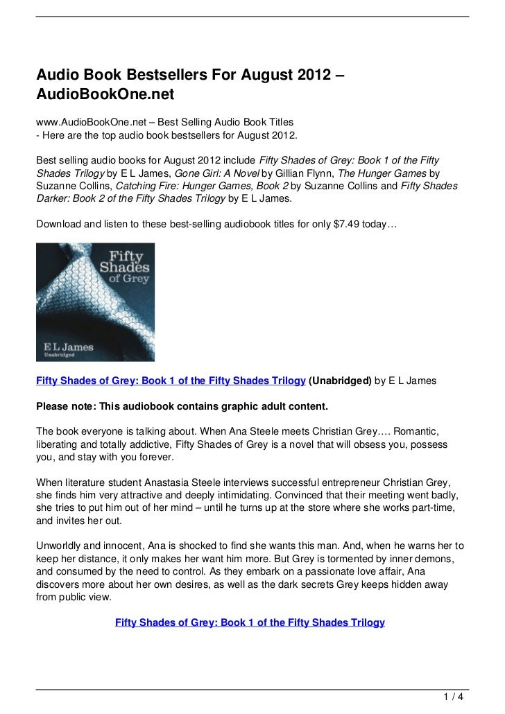 Audio Book Bestsellers For August 2012 –AudioBookOne.netwww.AudioBookOne.net – Best Selling Audio Book Titles- Here are th...
