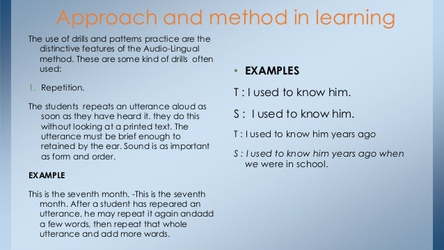 Communicative Approach with the Audio-Lingual Method Essay Sample