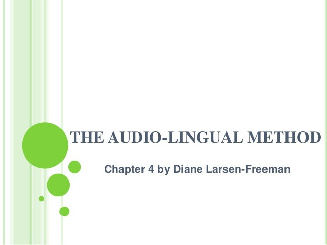 thesis audio lingual method The implementation of audio lingual method in teaching english at the fourth year of sd n bedoro 2 sambungmacan-sragen ninik suryani department of english education.