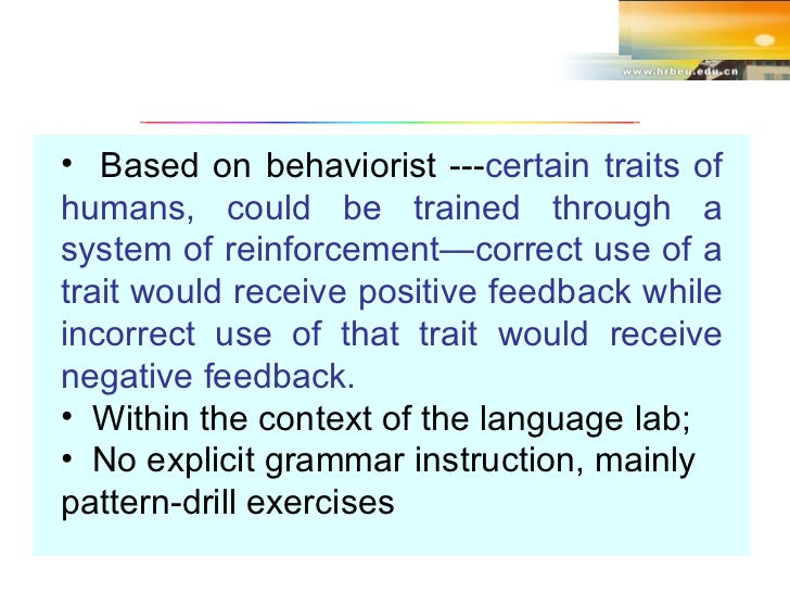 The Audio Lingual Method 1 Research Paper Example August 2019