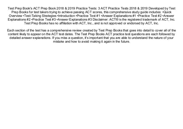 Read] ACT Prep Book 2018 & 2019 Practice Tests: 3 ACT Practice Tests…