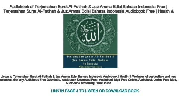 Audiobook Of Terjemahan Surat Al Fatihah Juz Amma Edisi