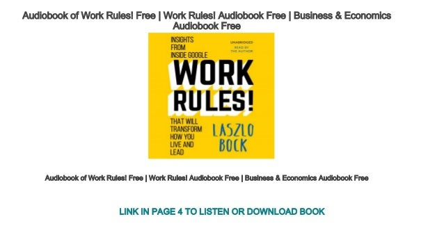 Audiobook of work rules free work rules audiobook free business audiobook of work rules malvernweather Images