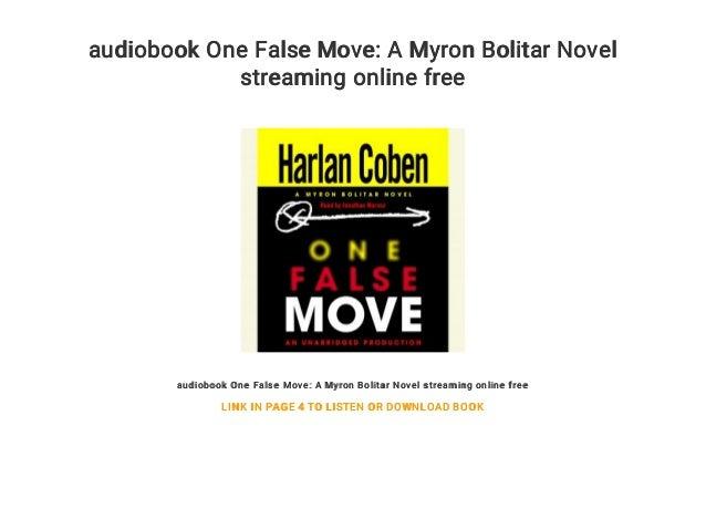 audiobook One False Move: A Myron Bolitar Novel streaming online free audiobook One False Move: A Myron Bolitar Novel stre...