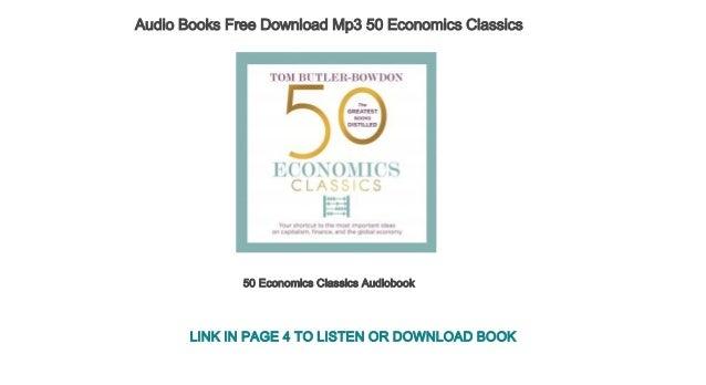 Audio Books Free Download Mp3 50 Economics Classics