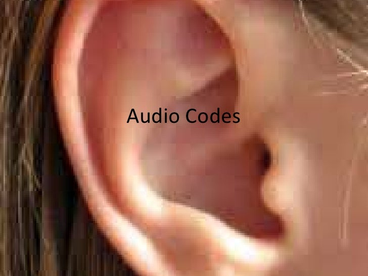 Audio Codes<br />