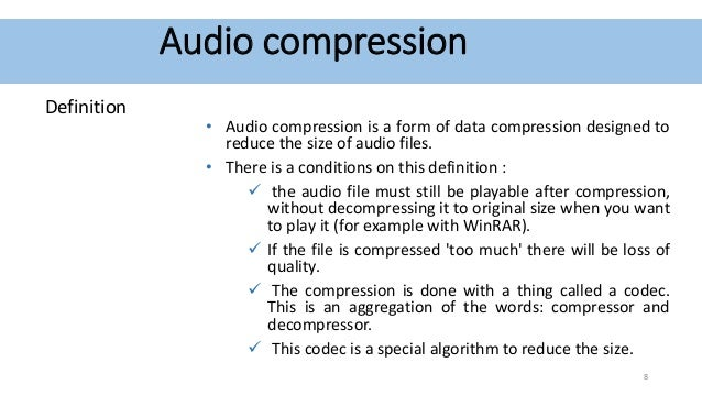 how to compress audio files