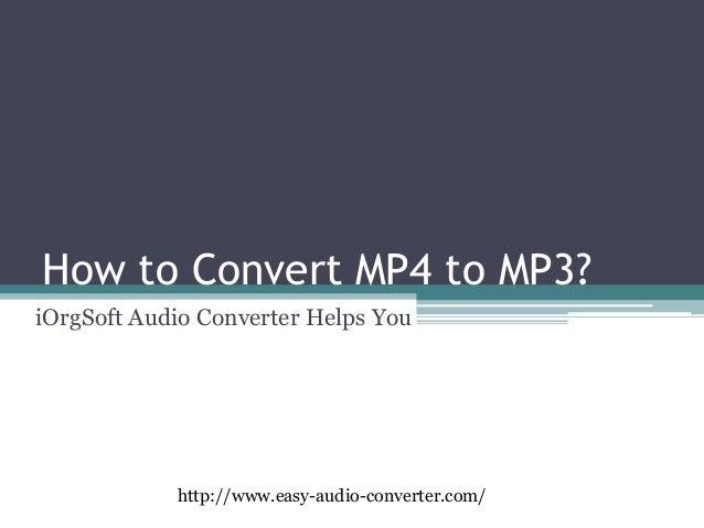 mp4 to mp3 audio converter