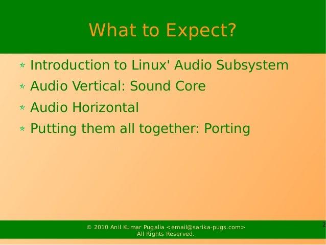 Audio Drivers Slide 2