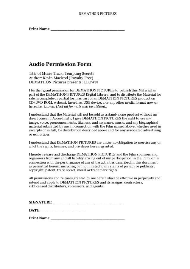Audio Form