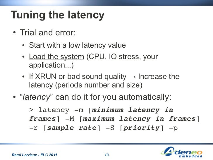Audio in linux embedded