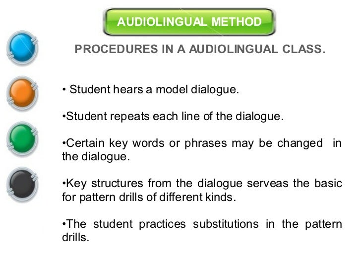 Wilga rivers audio lingual method essay