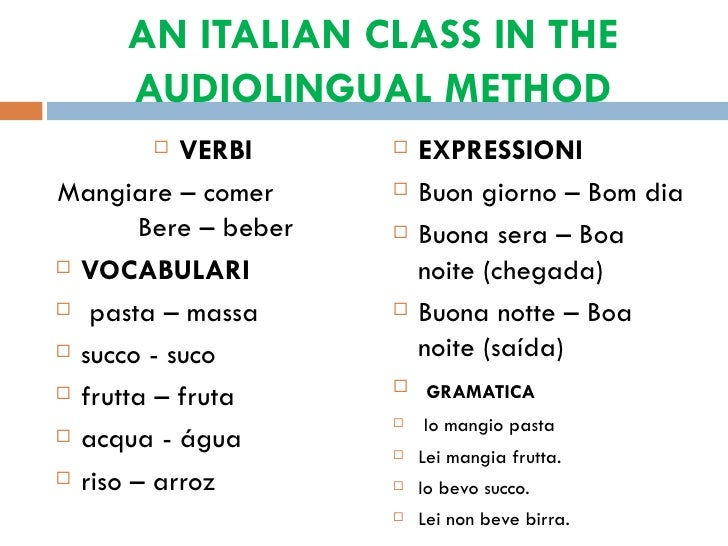 the audiolingual methods Audio lingual method (alm) introduction the audiolingual method was developed in the us during the second world war at that time, the us government found it a great necessity to set up a special language-training program to supply the war with language personnel.