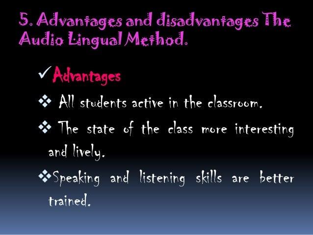 Horseshoe Classroom Design Advantages And Disadvantages : Audio lingual method