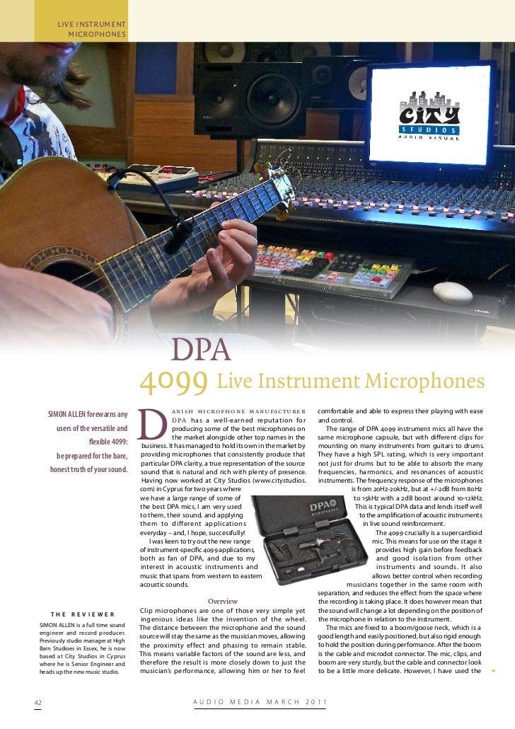 Audio Media DPA4099 Review
