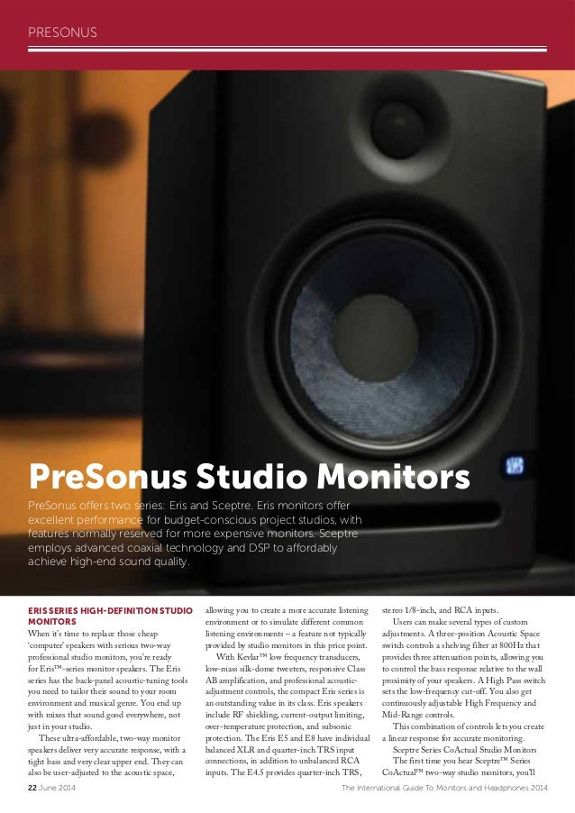 Audio Media Monitors Headphones Guide 2014