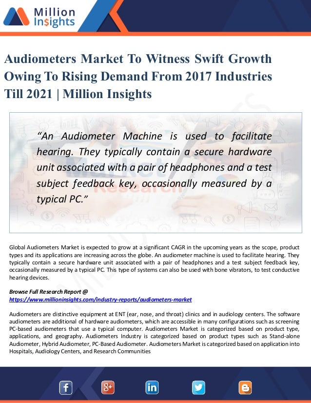 Audiometers Market Analysis Report - Industry Trends,Share, Size, Gro…