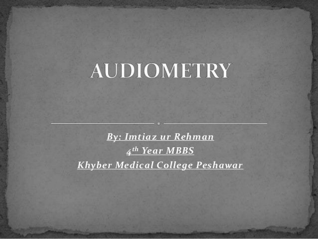 Audiometry Slide 2