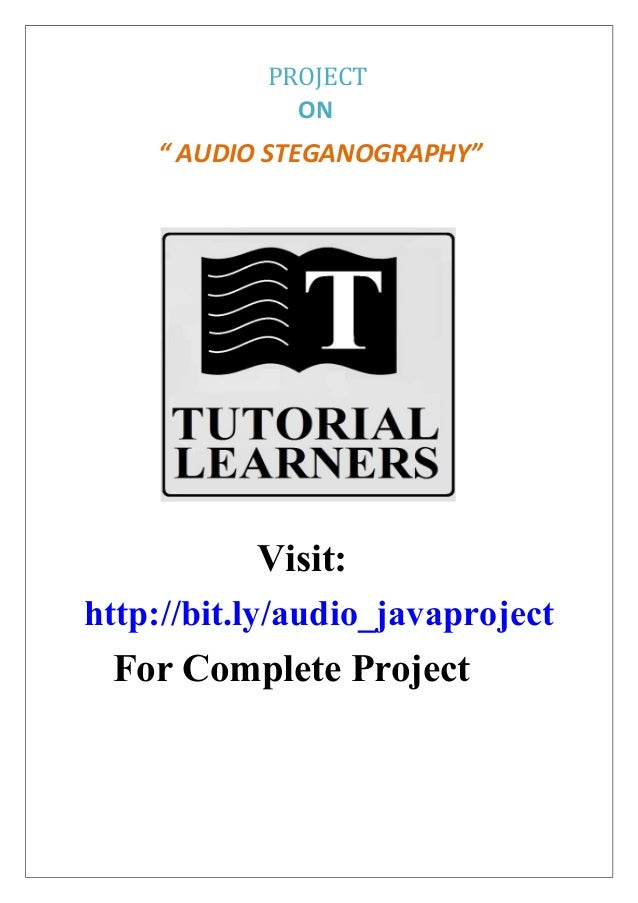 Audio Steganography java project