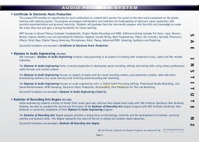 SAE INSTITUTE Audio prospectus