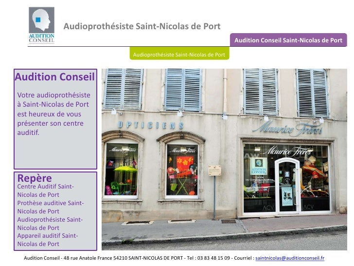 Audioprothésiste Saint-Nicolas de Port <br />Audition Conseil Saint-Nicolas de Port<br />Audioprothésiste Saint-Nicolas de...