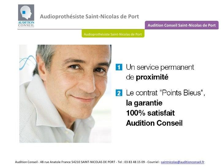 Audioprothesiste saint nicolas de port - Clinique veterinaire saint nicolas de port ...