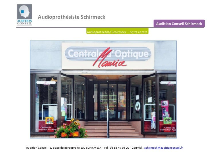 Audioprothésiste Schirmeck                                                                                                ...