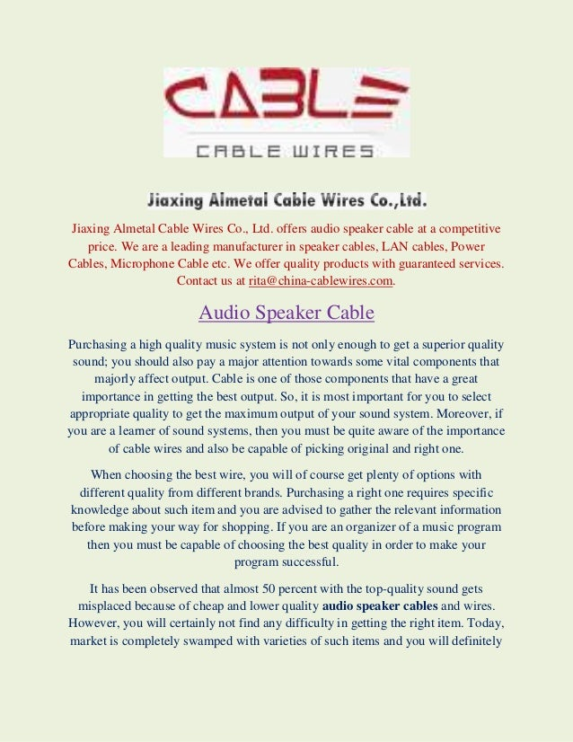 speaker cables, LAN cables, Power Cables, Microphone Cable