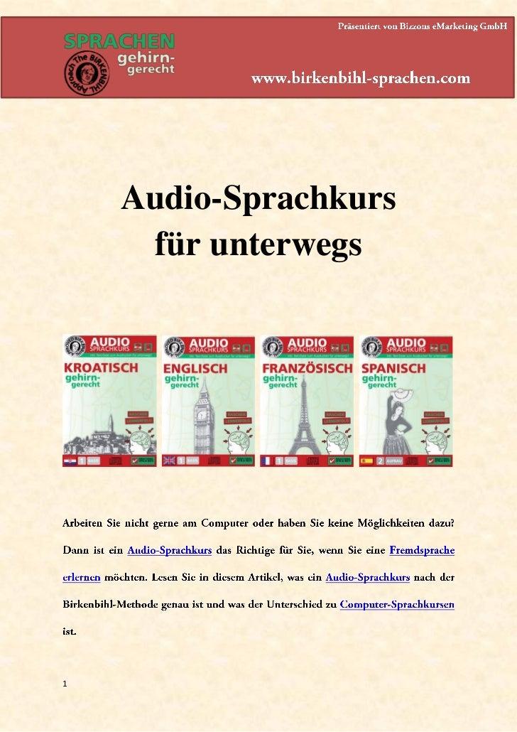 Audio-Sprachkurs     für unterwegs1
