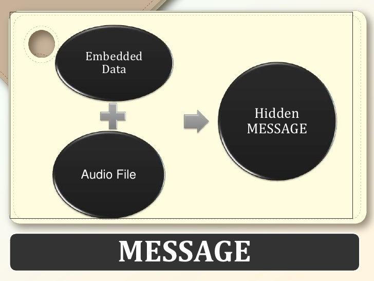 Embedded  Data              Hidden             MESSAGEAudio File      MESSAGE