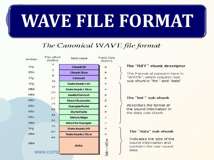 WAVE FILE FORMAT www.company.com