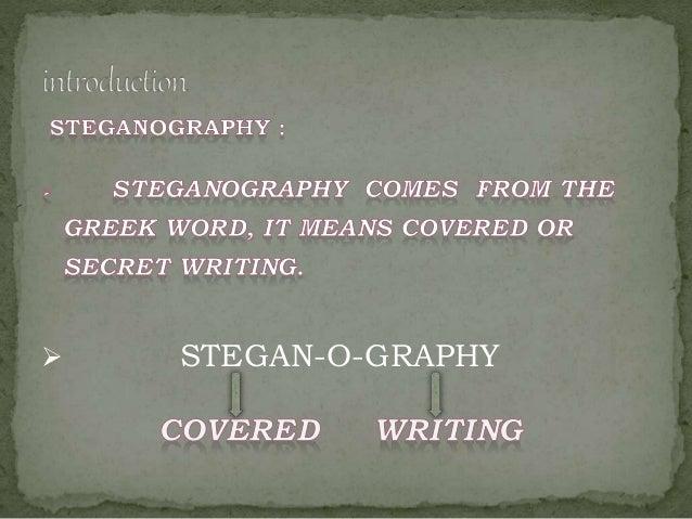 Audio steganography  Slide 3
