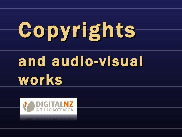 Copyrights and audio-visual works