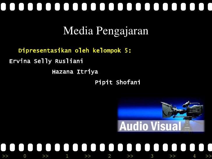 Media Pengajaran       Dipresentasikan oleh kelompok 5:     Ervina Selly Rusliani                   Hazana Itriya         ...