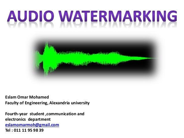 Audio Watermarking Essay Sample
