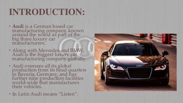 Audi Presentation - Audi car maker
