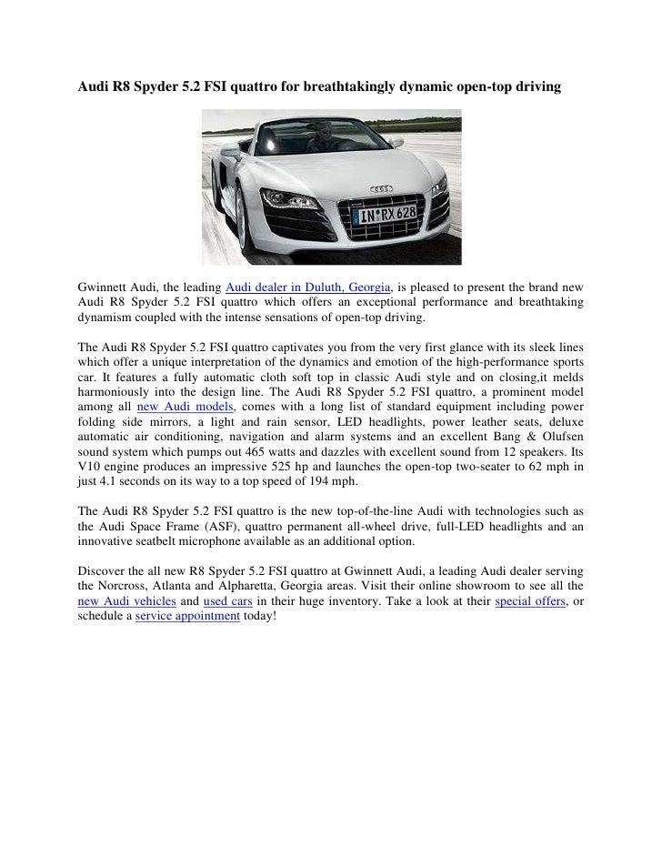 Gwinnett Audi About Us Page Duluth GA - Audi gwinnett service