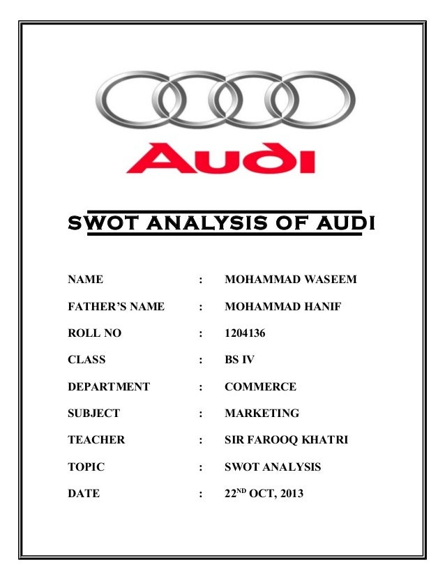 swot analysis for bmw Title: bmw – a company analysis thesis language: english background: the automotive industry is distinguished by a highly competitive market  34 swot-analysis.