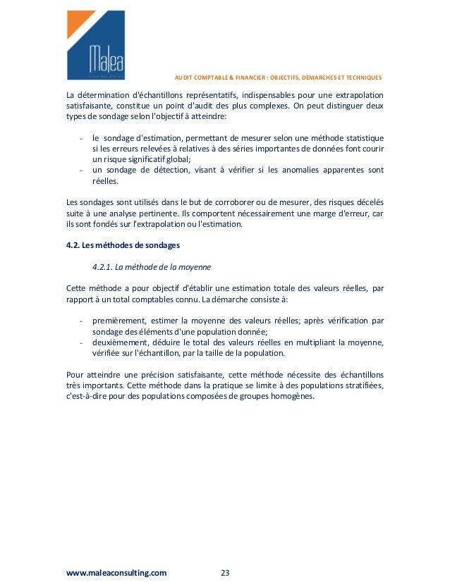 les techniques d audit comptable et financier pdf