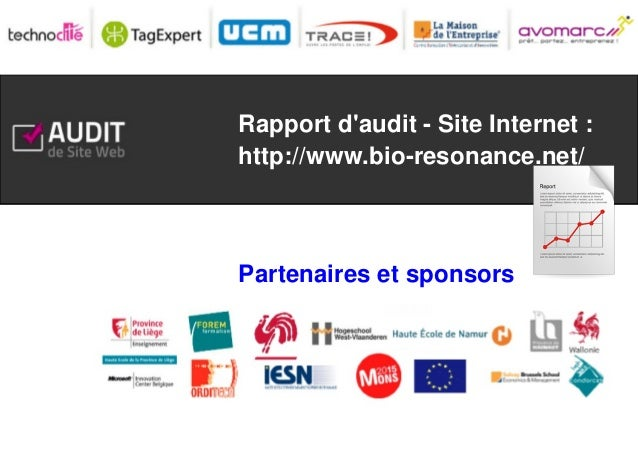 Rapport d'audit - Site Internet : http://www.bio-resonance.net/  Partenaires et sponsors