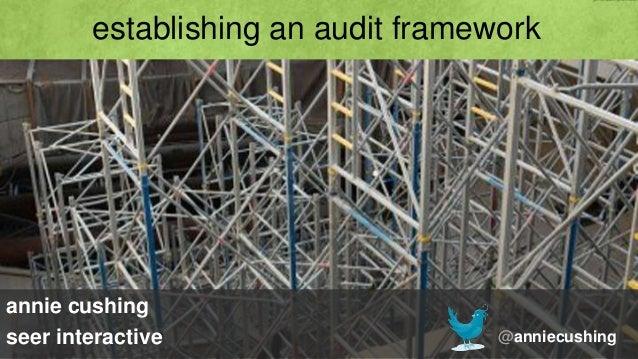 establishing an audit frameworkannie cushingseer interactive                    @anniecushing