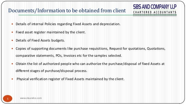 Audit of Fixed Assets