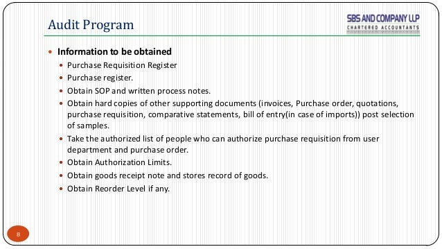 Audit of Purchases