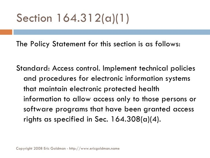 Auditing web servers for HIPAA compliance - §164.312(a)(1)
