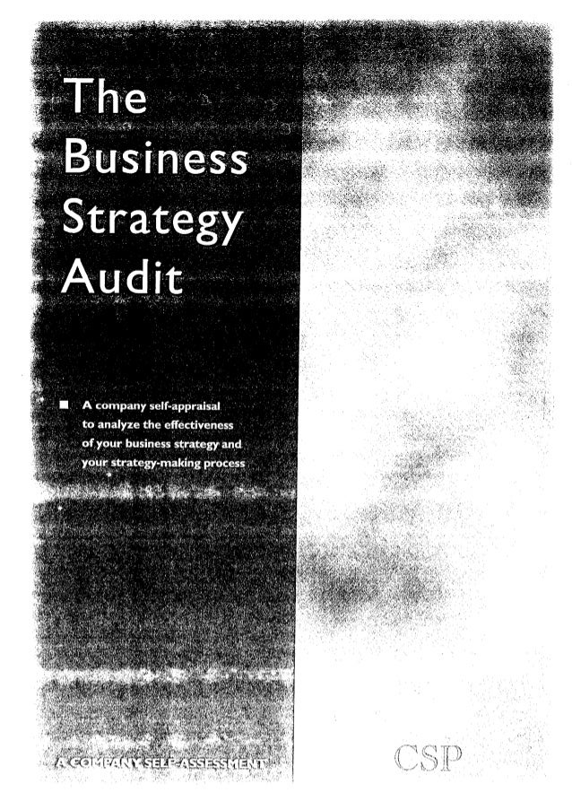 Audit   the business strategy audit