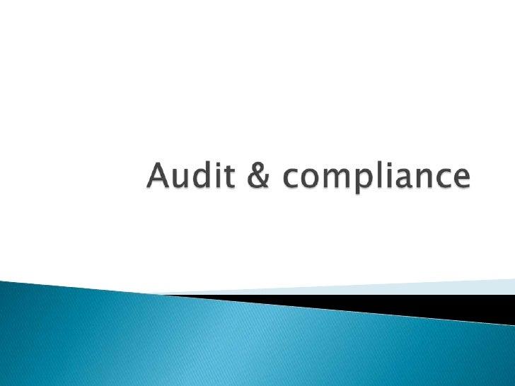 Audit & compliance<br />
