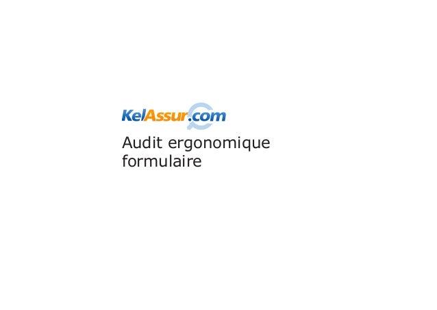 Audit ergonomiqueformulaire